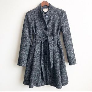 Michael Kors black & gray wool pea coat - size 6